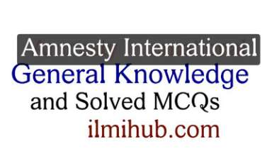solved mcqs about Amnesty International, Multiple choice questions about Amnesty International, mcqs on Amnesty International