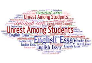 essay on unrest among students, students unrest essay, causes of students unrest