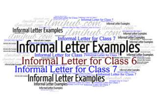 Informal Letters for Class 6, Informal Letters for Class 7, Informal Letter Writing Topics for class 6 and Class 7