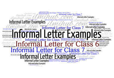 Top 14 informal letter writing topics for class 6 and 7 with examples spiritdancerdesigns Images