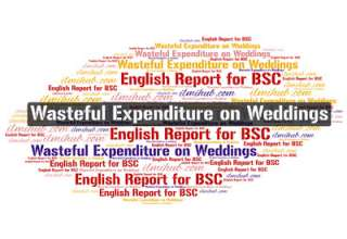 wasteful expenditure on weddings. report on wasteful expenditure on weddings, report writing example on wasteful expenditure on weddings