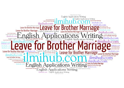 application for marriage leave for students application examples