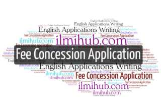Application for Fee Concession, Fee concession application, application for full fee concession, fee concession application for college