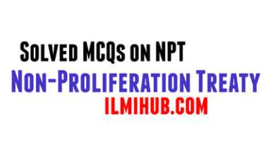 MCQs on NPT, Solved MCQs about NPT, Multiple choice questions about NPT, NPT Quiz