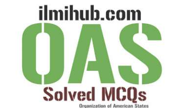 mcqs on Organization of American States, MCQs on OAS, OAS Quiz, OAS MCQs with Answers