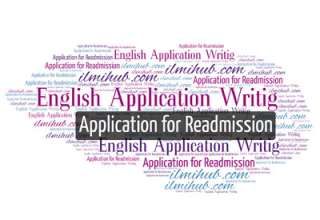 Readmission Application, Application for Readmission in College, Application for Readmission in School, Sample application for readmission