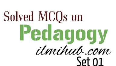 Pedagogy MCQs with Answers for NTS - Ilmi Hub