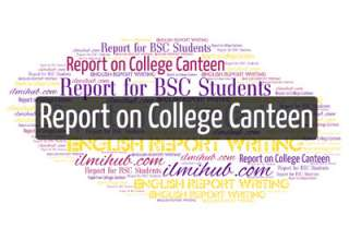 report on college canteen, report for bsc students, report writing examples