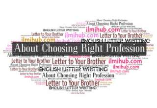 Letter to Your Brother Advising Him On the Choice of a Profession