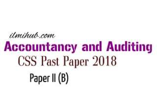 CSS 2018 Accountancy and Auditing
