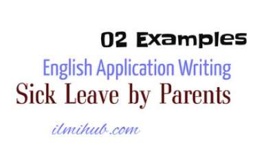 Leave Application to Class Teacher by Parent, School Leave Application for my Son, application to school teacher by father
