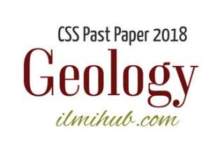 CSS Geology Paper 2018
