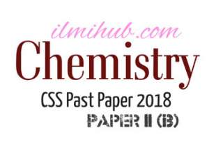 Chemistry Paper CSS 2018