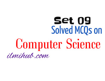 MCQs of Computer Science with Answers for Online Test Preparation