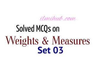 Measures and Weights Quiz