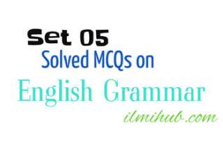 MCQs on English Grammar