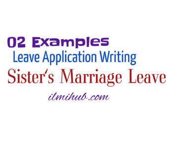 Leave Letter Leave Application For Sister Marriage To Principal