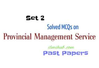 Solved Previous Paper of Provincial Management Service