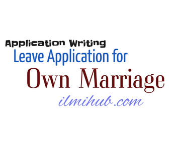 Leave Application For Own Marriage to Manager - Marriage Leave Request