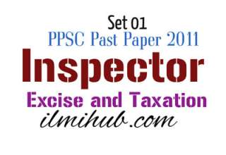 Inspector Excise and Taxation Solved Paper