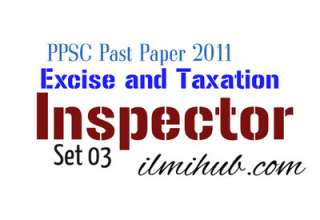 Excise and Taxation Inspector Punjab Previous paper