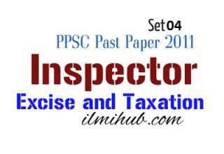Solved Past Papers of Excise and Taxation Inspector