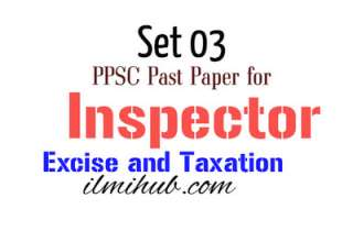 Inspector Excise and Taxation PPSC Past Paper