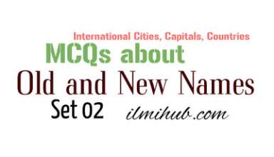 Capitals and Countries Old and New Names Quiz