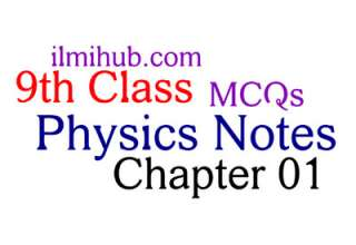 Physics Notes for Class 9 MCQs Chapter 1
