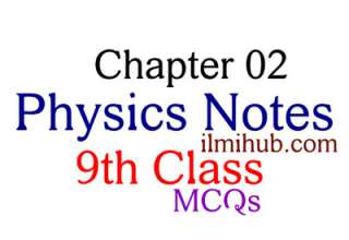 MCQs of Physics Chapter 2 for 9th class, Physics Chapter 2 MCQs for Class 9