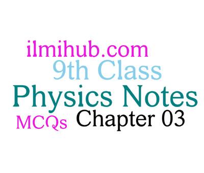 Dynamics: 9th Class Physics Chapter 3 MCQs - Ilmi Hub
