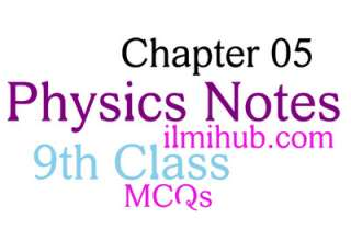 9th Class Physics Chapter 5 Solved MCQs