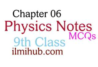 9th Class Physics Chapter 6 MCQs