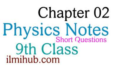 Physics Chapter 2 Short Questions for Class 9