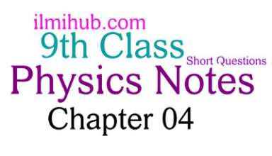 9th Class Physics Chapter 4 Notes