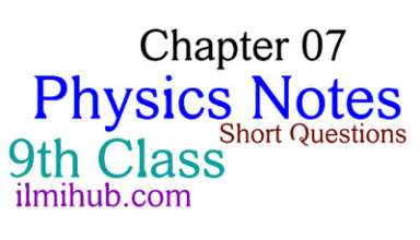 9th Class Physics Chapter 7 Notes