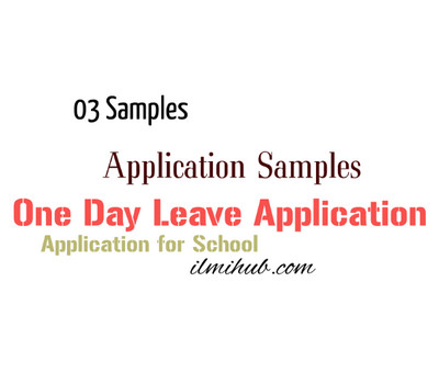One Day Leave Application for School for Students - Ilmi Hub