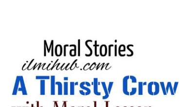 The thirsty crow short story in English, Thirsty Crow story in English Writing