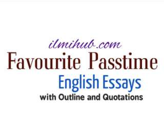 Essay on my favourite Pastime, My Favourite Pastime Essay, Favourite Pastime Essay with Quotes