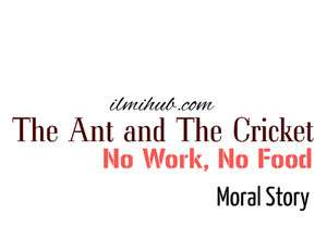 The Ant and the Cricket Story, No Work No Food story, Ant and the Cricket Moral Story in English