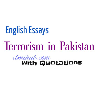 essay on terrorism in pakistan with quotations  kips notes