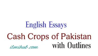 Cash Crops of Pakistan Essay, Essay on Cash Crops of Pakistan with Outline, Essays for BCom