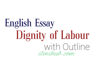 Essay on Dignity of Labour for Outline, Essay on Dignity of Work, Dignity of Labour Essay