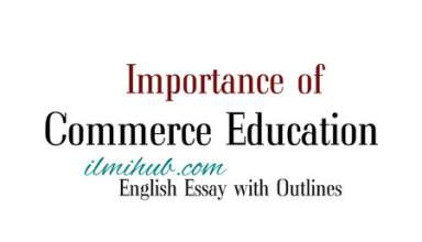 English Essay on Commerce education, Importance of Commerce education Essay with outline, Essay on Importance of commerce education in Pakistan