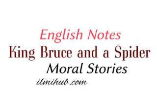 Robert Bruce and the Spider Story, Moral Story of King, Story of King