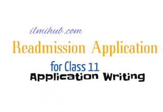 Readmission Application for College Students, Readmission Application for Class 11, Readmission Application in English