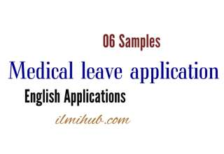 Medical Leave Application, medical Emergency Letter to Your Office, leave of Absence Letter for Medical