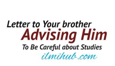Letter to Younger Brother advising him to be careful about studies, Sample Letter to Brother, Informal Letter to Younger brother sample