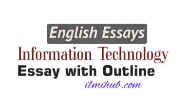 Essay on Information Technology with outline, Information Technology Essay, Essay on Technology