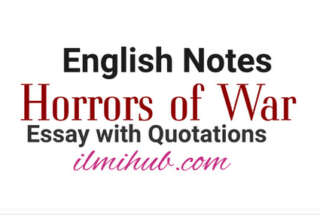 Horrors of War Essay in English, Essay on Horrors of War with Quotations, Horrors of War essay with Quotes